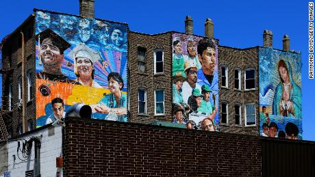 CHICAGO -  JUNE 07:  Jeff Zimmerman's 'Increibles Las Cosas A Se Ven' mural is displayed in the Pilsen neighborhood in Chicago, Illinois on June 7, 2019.  MANDATORY MENTION OF THE ARTIST UPON PUBLICATION - RESTRICTED TO EDITORIAL USE.  (Photo By Raymond Boyd/Getty Images)