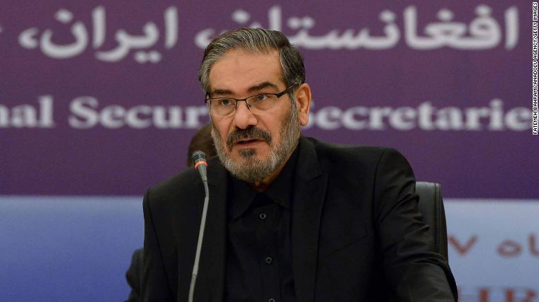 Iranian National Security Secretary Ali Shamkhani pictured in Tehran on September 26, 2018.