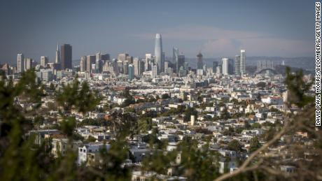 A view of downtown San Francisco.