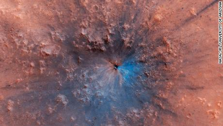 NASA released a new image of an impact crater on the surface of Mars, likely formed between September 2016 and February 2019.