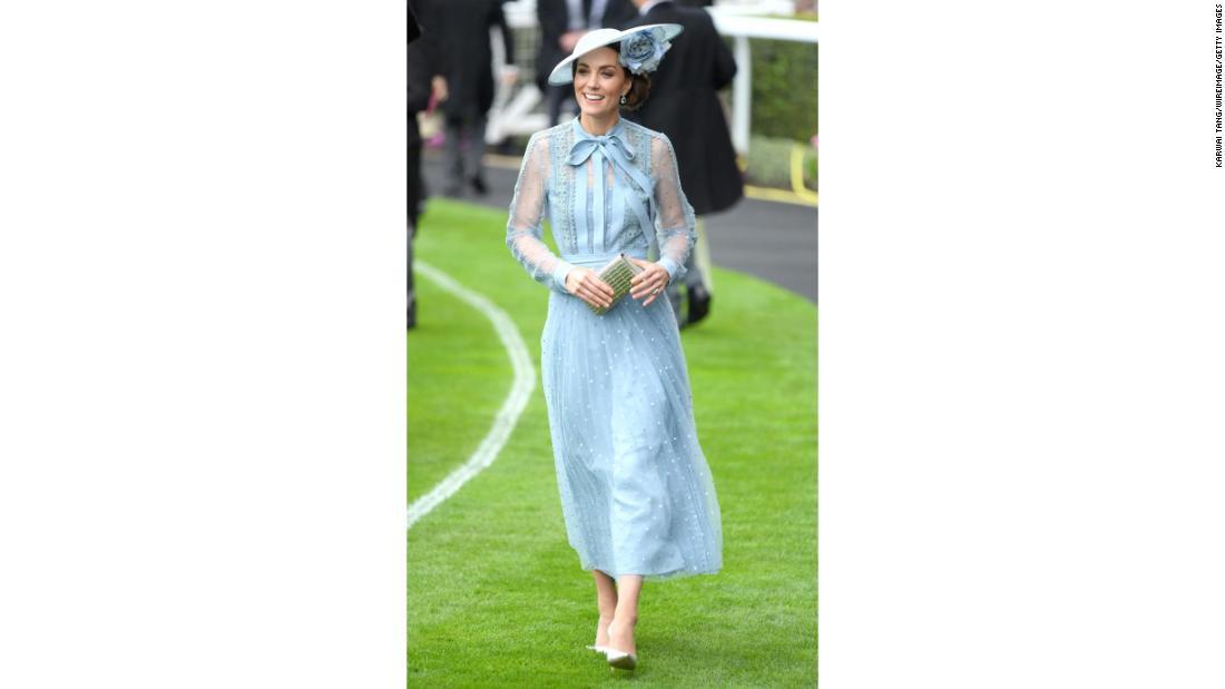 Kate Middleton dons blue dress for Royal Ascot