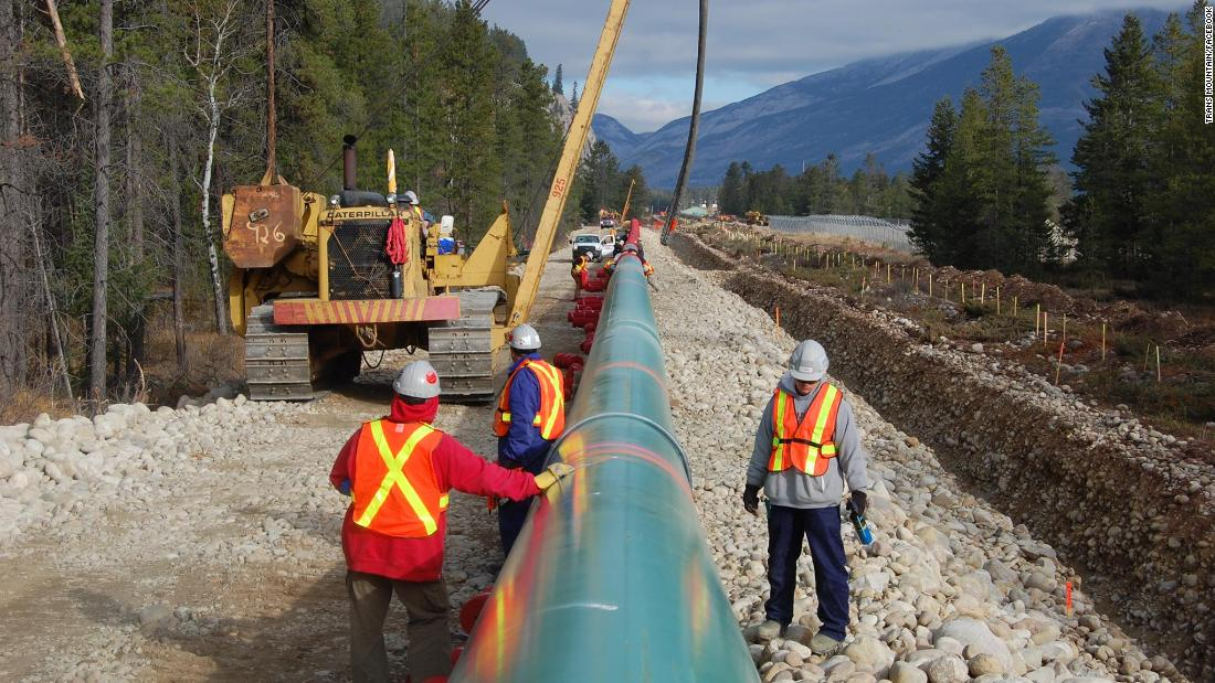 Canadian government says taxes from reapproved pipeline project will go toward green energy