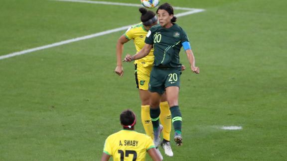 Kerr has now scored five goals for Australia in France.
