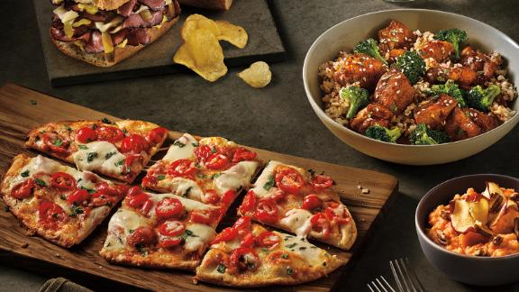 Panera's new dinner menu includes flatbreads, bowls and side dishes.