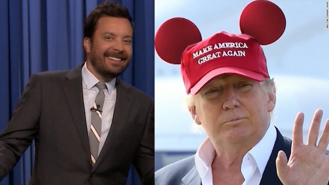 Comics mock Trump's campaign kickoff event