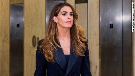 Former White House Communications Director Hope Hicks arrives before testifying to a closed door House Judiciary Committee hearing on June 19, 2019 in Washington, DC.
