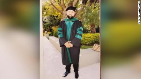 Pacheco walked in his graduation Saturday before he vanished, his family says.
