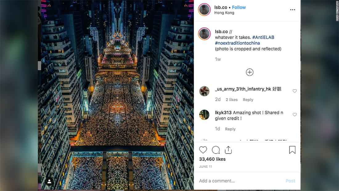 That viral photo of the Hong Kong protests is not what it seems