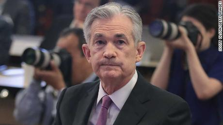 CHICAGO, ILLINOIS - JUNE 04: Jerome Powell, Chair, Board of Governors of the Federal Reserve listens to speakers during a conference at the Federal Reserve Bank of Chicago on June 04, 2019 in Chicago, Illinois. The conference was held to discuss monetary policy strategy, tools and communication practices.  (Photo by Scott Olson/Getty Images)