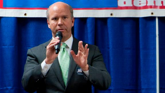 Delaney speaks at a Democratic candidates forum in March 2012. Before running for office, Delaney was once the youngest CEO of a publicly traded company. He has owned a health care company, a health care lender, and a lender to small- and mid-sized businesses.