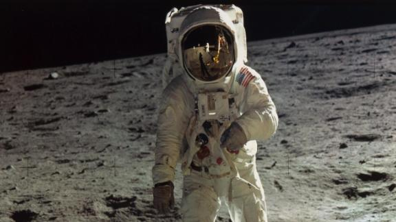 To celebrate the 50th anniversary of the Apollo 11 moon landing, the Metropolitan Museum of Art debuts a new exhibit featuring visual representations of the moon, including this famous photo of Buzz Aldrin taken by Neil Armstrong.