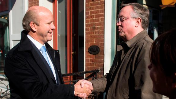 Delaney speaks with voters in Frederick, Maryland, the day before the election in November 2012. He went on to defeat 10-term incumbent Roscoe Bartlett.