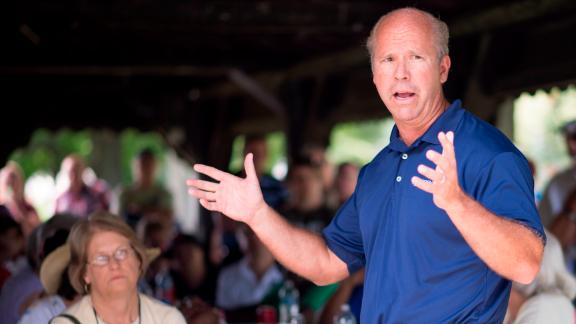 Delaney speaks at a barbecue for campaign supporters and volunteers in July 2012.