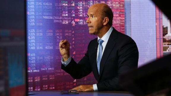 Delaney gives an interview to Bloomberg television in May 2018.