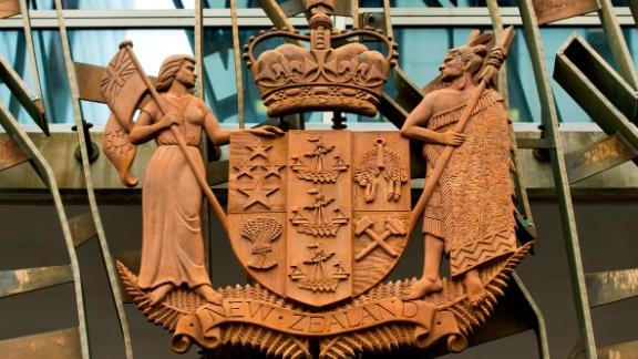 A general view of the coat of arms at the Supreme Court on June 12, 2019 in Wellington, New Zealand.
