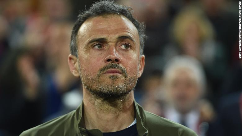 Luis Enrique coached Barcelona before taking charge of the Spain team.