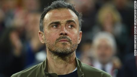Luis Enrique, Manager of Spain looks on before the start of the 2020 UEFA European Championships group F qualifying match between Spain and Norway at Estadio Mestalla on March 23, 2019 in Valencia, Spain. (Photo by Denis Doyle/Getty Images)