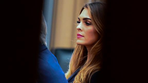 US President Trump's former White House Communications Director Hope Hicks sits for a closed door meeting with the House Judiciary Committee in relation to the Mueller investigation at the Capitol in Washington, DC on June 19, 2019. (Photo by ANDREW CABALLERO-REYNOLDS / AFP)        (Photo credit should read ANDREW CABALLERO-REYNOLDS/AFP/Getty Images)