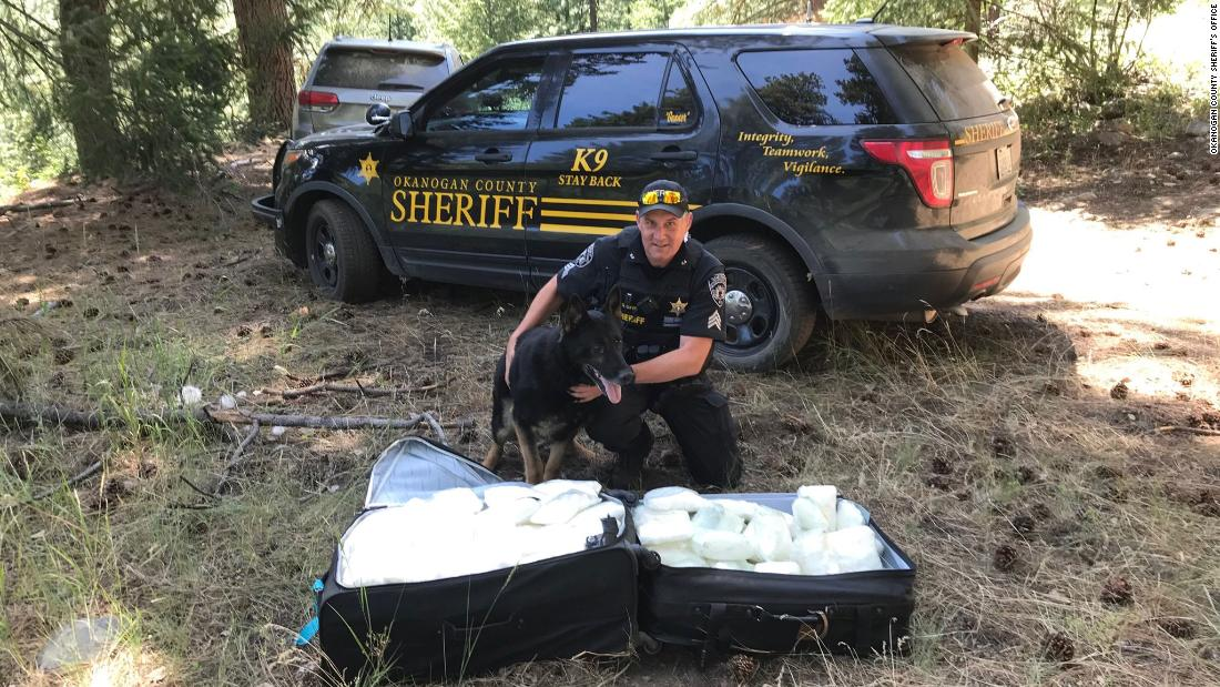 $1 million of meth found in suitcases in a Washington forest