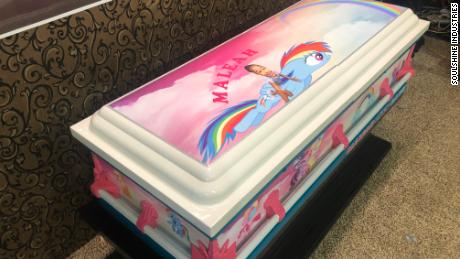 "Maleah Davis' casket is colored with rainbows, ""My Little Pony,"" and lots of pink"