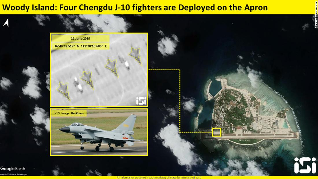 South China Sea: Satellite image shows Chinese fighter jets deployed to contested island
