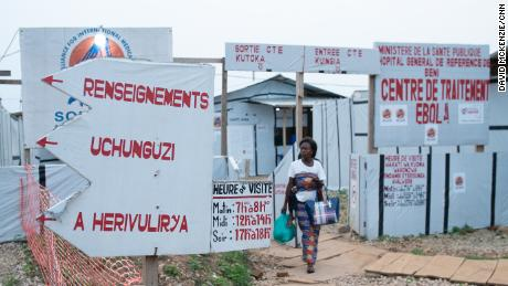 An Ebola Treatment Center in Beni, Eastern DRC. Mistrust and insecurity has stopped many from coming to get treatment. In this outbreak, up to a third of Ebola cases are confirmed only after their bodies are discovered in the community according to the Center for Disease Control.