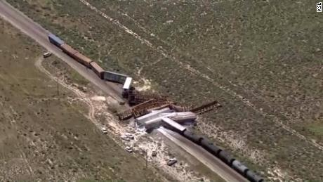 Train carrying military munitions derails