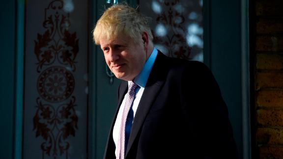 LONDON, ENGLAND - JUNE 20: Conservative Party Leadership contender Boris Johnson leaves his home on June 20, 2019 in London, England. Johnson topped yesterday