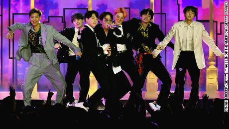 BTS performed at the 2019 Billboard Music Awards on May 1, 2019 in Las Vegas, Nevada.