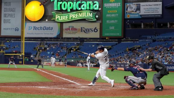 The Rays, shown in a May 30 photo, often play in front of small crowds in St. Petersburg, Florida.