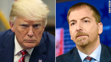 Donald Trump and Chuck Todd