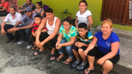 The González Trejo family in Mexico. Matriarch Juana Isabel is in the blue shirt.