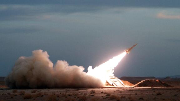 A Hawk surface-to-air missile is launched during military maneuvers at an undisclosed location in Iran on November 13, 2012. AFP PHOTO/ISNA/AMIN KHOROSHAHI        (Photo credit should read AMIN KHOROSHAHI/AFP/Getty Images)