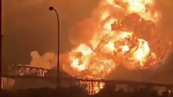 Social media recorded a massive fireball from the Philadelphia oil refinery early Friday.