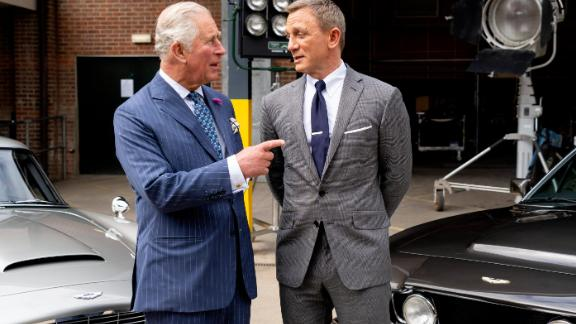 Prince Charles and Daniel Craig chat during the prince
