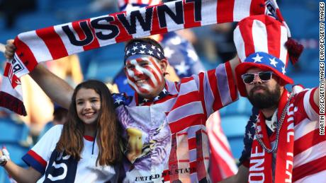 US fans are out in numbers in France.