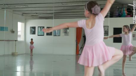 Angela loves to dance and now attends special ballet classes where all children have to prove they have been vaccinated.