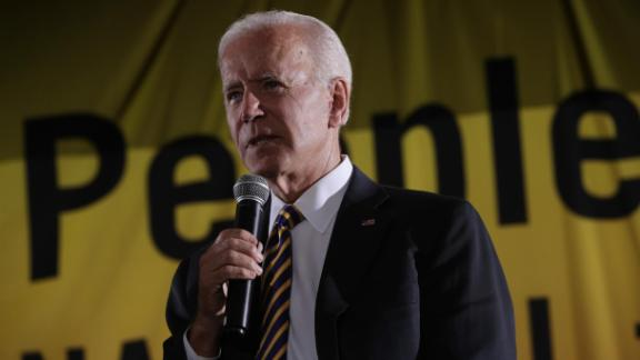 Democratic U.S. presidential hopeful and former Vice President Joe Biden addresses the Moral Action Congress of the Poor People's Campaign June 17, 2019 at Trinity Washington University in Washington, DC.