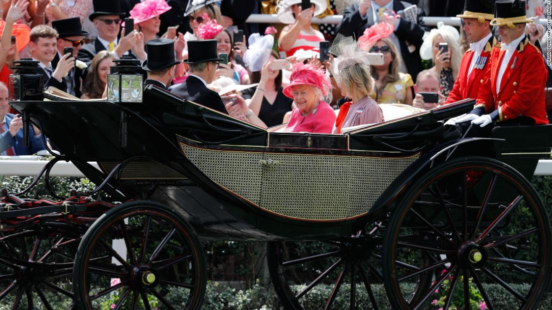 As is tradition, Britain's Queen Elizabeth II leads the royal procession at Royal Ascot.