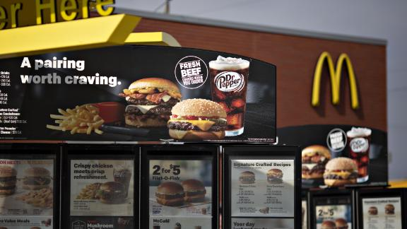 The fresh beef quarter-pound burgers have helped boost McDonald's sales.