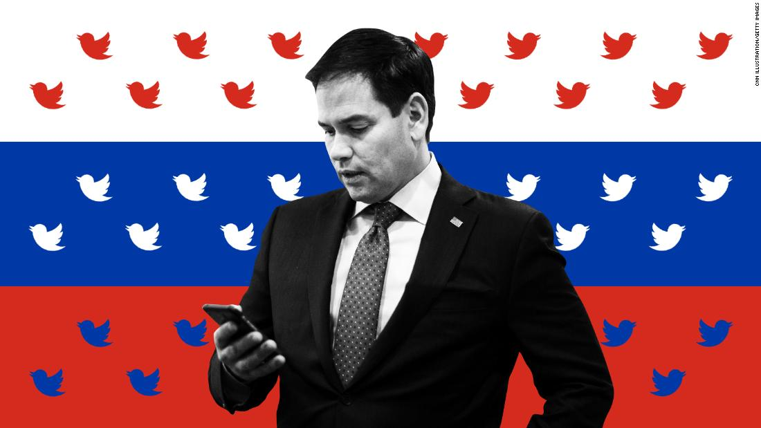 Russian accounts pushed fake Rubio tweet warning of British spy threat to US elections