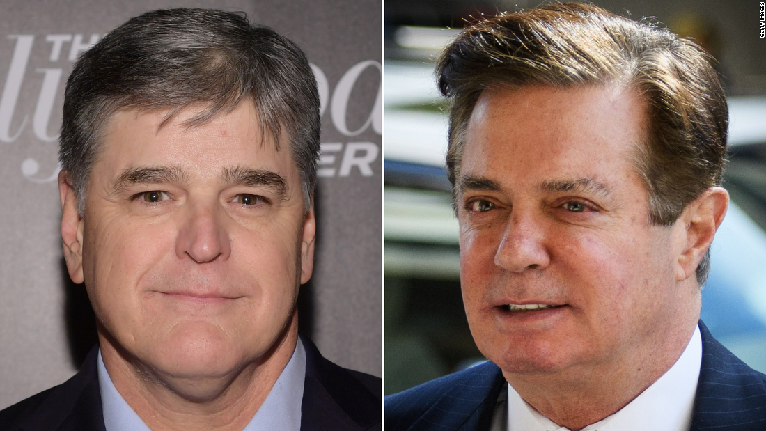 Manafort told Sean Hannity in texts he would never give up Trump
