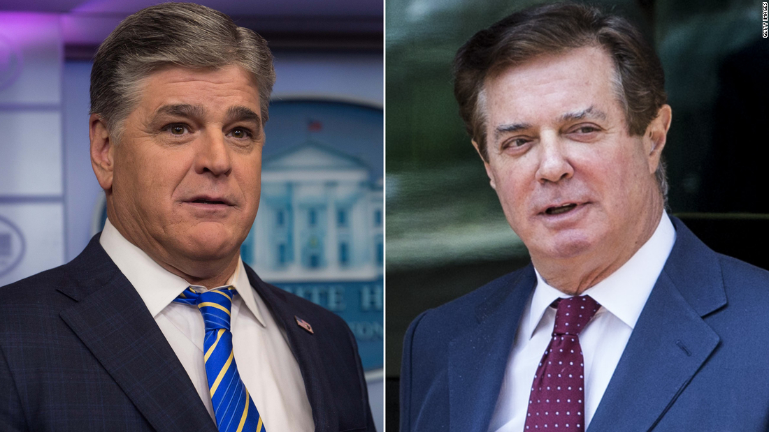 Manafort told Sean Hannity in texts he would never give up Trump or Kushner