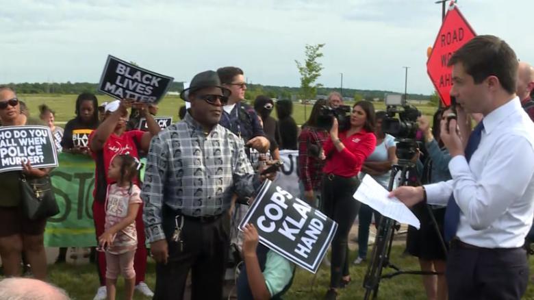 Buttigieg faces protesters over fatal police shooting