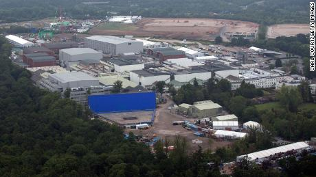 A controlled explosion on the Bond set at Pinewood Studios injured a crew member earlier this month.