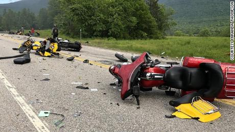 A 2016 Dodge 2500 traveling west on Route 2 in Randolph, NH collided with several motorcycles traveling east, resulting in multiple deaths and injuries, according to a press release from the New Hampshire State Highway Patrol. 