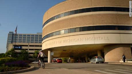 University of Michigan hospital main entrance