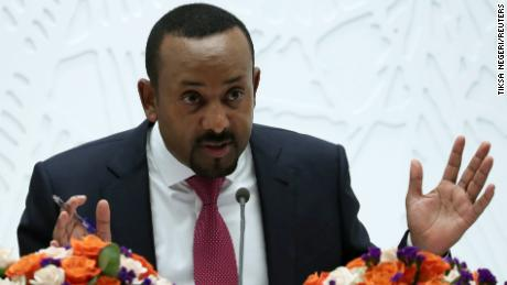 Ethiopia's Prime Minister Abiy Ahmed speaks at a news conference in Addis Ababa, Ethiopia March 28, 2019. REUTERS/Tiksa Negeri