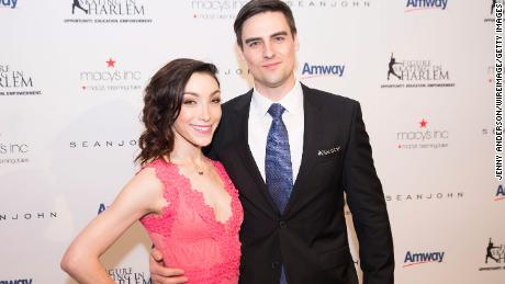 Meryl Davis and Fedor Andreev attend the Skating With The Stars Gala in 2016 in New York City.