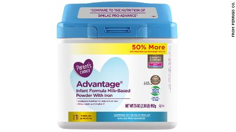 Perrigo Company issued a voluntary recall of more than 23,000 containers of this baby formula sold at Walmart.